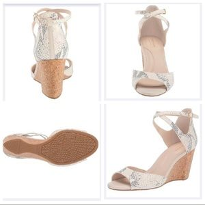 New Cole Haan Luxurious Leather Wedge 75mm Sandals